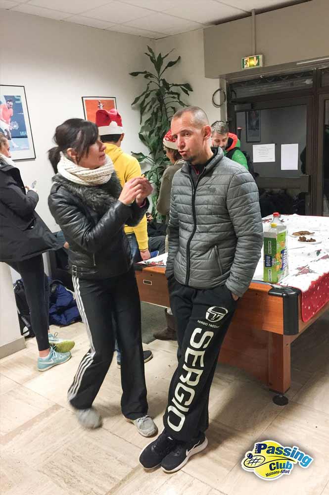 Fabienne et Serge profs du Pcma tennis à la galette des rois 2018