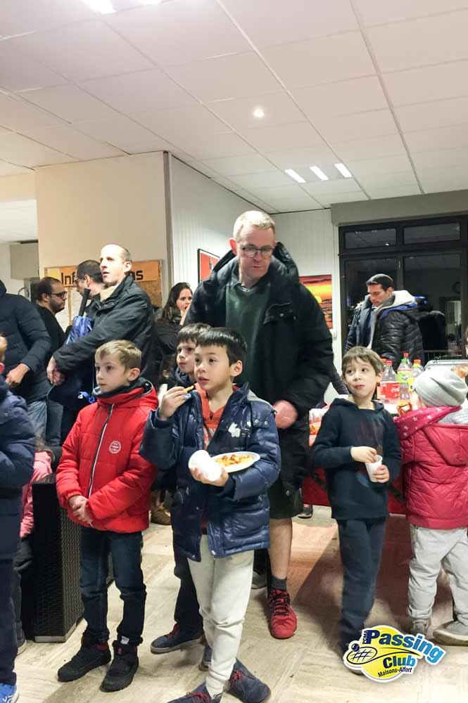 Vincent Audard et les enfnats à la galette du Pcma tennis 2018